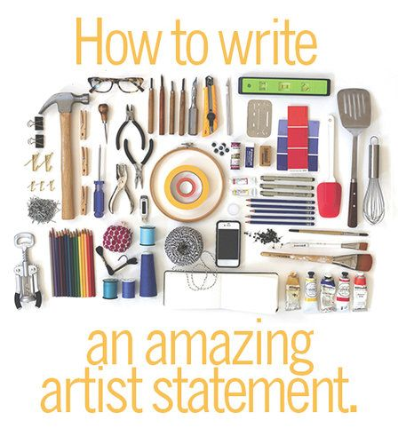 Pick up your pencil and get started on your Artist Statement! Find out how at www.ArtsyShark.com
