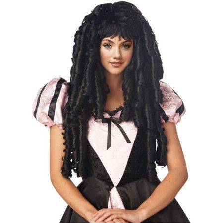 Storybook Deluxe Adult Halloween Wig, Adult Unisex, Size: Adult One Size, Black