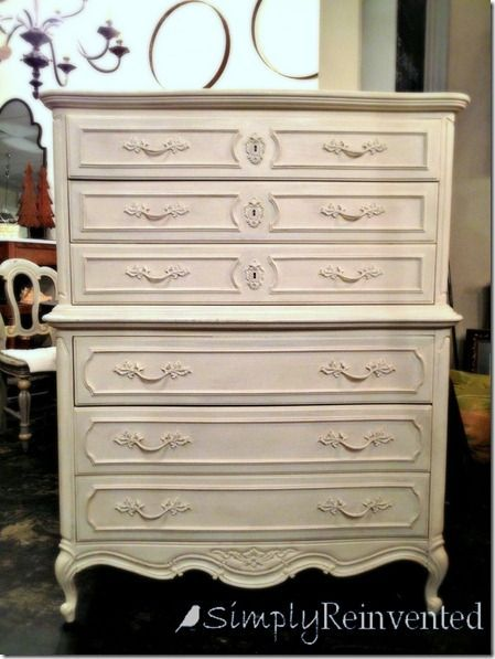 painted with Annie Sloan Old White,  sealed with clear wax and lightly distressed.
