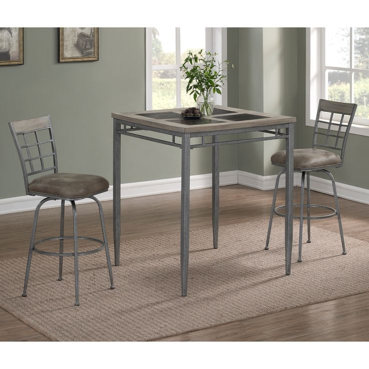 Bexley Counter Height Dining Set by Greyson Living (5-Piece Sets), Grey