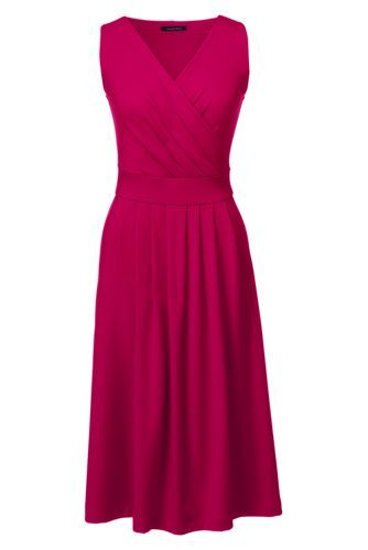 Women's Petite Fit and Flare Dress from Lands' End