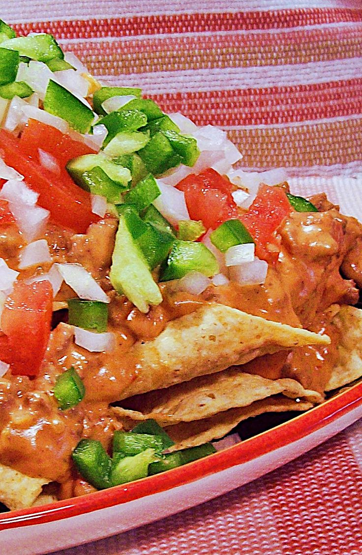 beefy nachos recipe in 2020 nachos calories stuffed peppers beefy pinterest