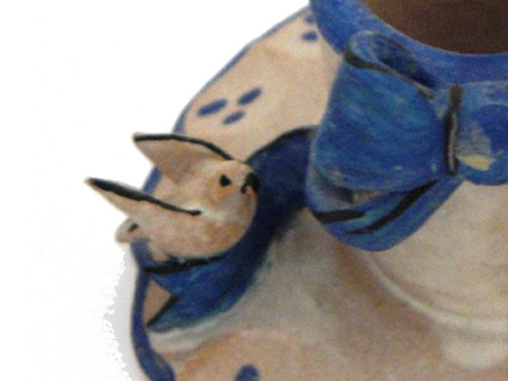 portacandele fiocco blu e colombe di Gifts & Co su DaWanda.com