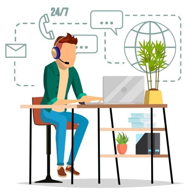 الدعم الفني ناقلات المهنية المشغل استعداد لحل مشكلة التوضيح معزولة شقة الدعم تقني أيقونة Png والمتجهات للتحميل مجانا In 2021 Vector Online Supportive Support Icon
