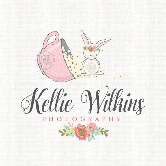 Logo del conejito preconfeccionado Boutique por stylemesweetdesign