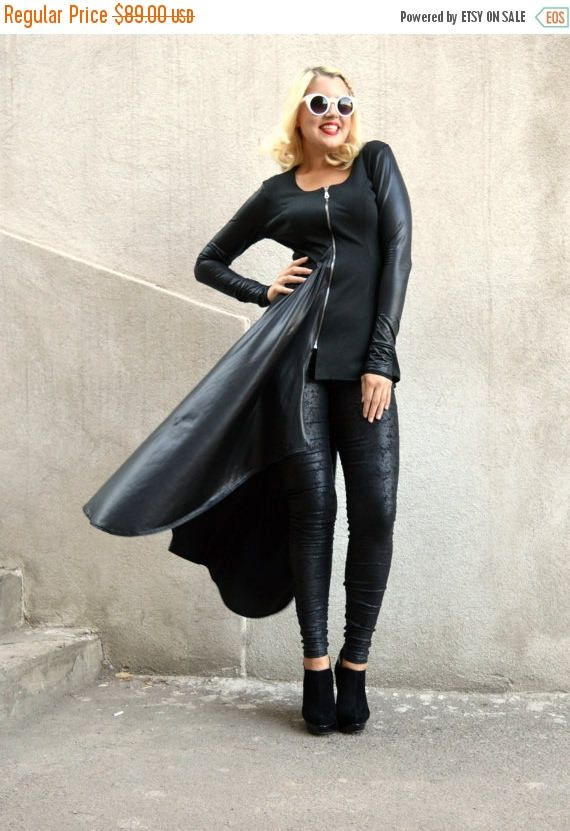 New in our shop! SALE 25% OFF Black Tunic / Black Asymmetrical Tunic / Black Jersey Tunic with Metallic Italian Punto / Italian Punto Tunic TT67 https://www.etsy.com/listing/246371570/sale-25-off-black-tunic-black?utm_campaign=crowdfire&utm_content=crowdfire&utm_medium=social&utm_source=pinterest