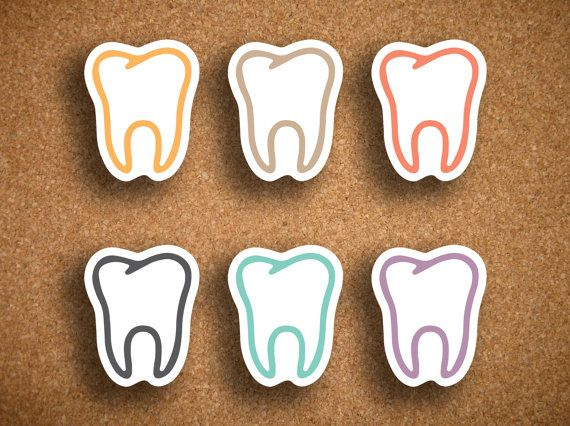 Dental appointment planner stickers. #dentistry