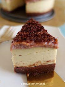 """Kolejna odsłona """"sernika"""" z jaglanki. Jak zwykle pyszny, pożywny i zdrowy. Dziś, na mocno czekoladowym spodzie, z kajmakową polew..."""