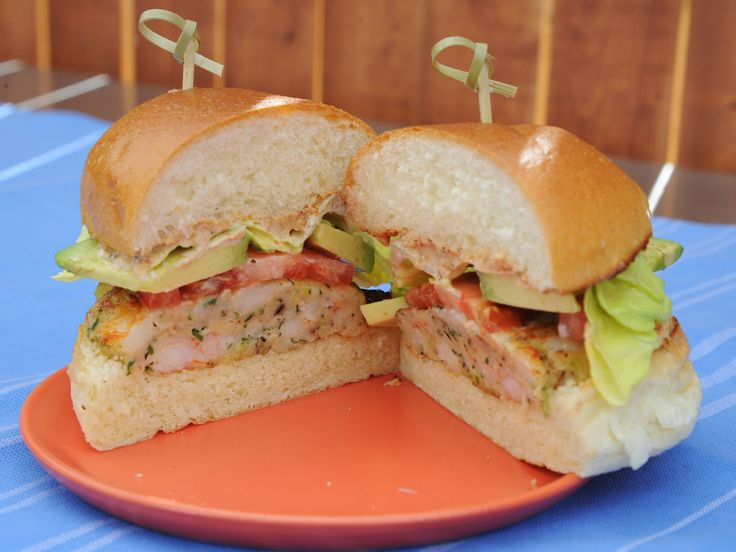 Shrimp Burgers with Old Bay Mayo Recipe : Katie Lee : Food Network - FoodNetwork.com