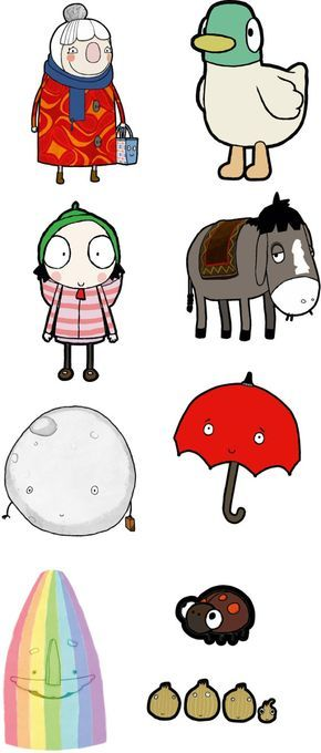 We Now have the Sarah and Duck Fun size collection. You can now buy your favourite characters individually. Sarah - H27 cm x W13.5 cm (H10.6 inch x W5.3 inch) Duck - H27 cm x W17.5 cm (H10.6 inch x W6.9 inch) Donkey - H22 cm x W20 cm (H8.6 inch x W7.9 inch) Scarf Lady H27 cm x W16 cm (H10.6 inch x W6.3 inch) Rainbow - H27.5 cm x W16 cm (H10.8 inch x W6.3 inch) Umbrella - H22 cm x W19 cm (H8.6 inch x W7.5 inch) Moon - H20 cm x W20 cm (H7.9 inch x W7.9 inch) Shallots - H9 cm x W27 cm (H...