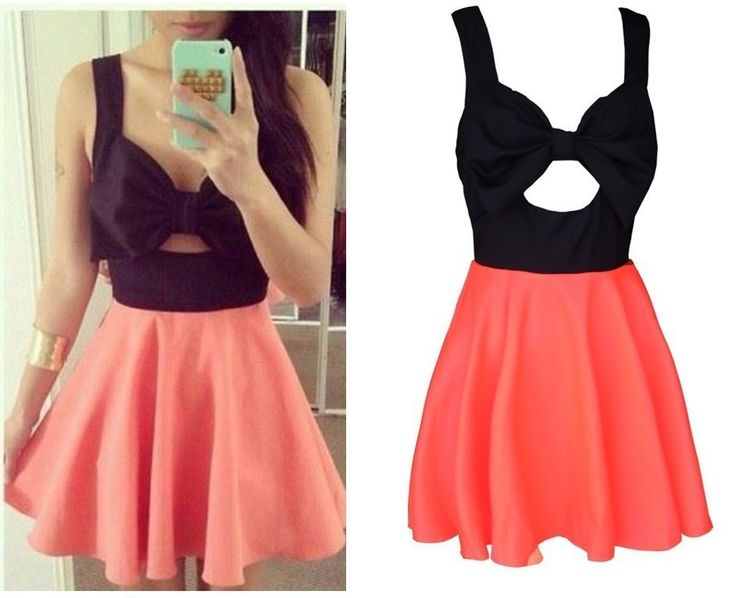 CONTRAST HIS CHEST WITH BOWKNOT CONNECT DRESS SKIRT  $25.00 ON SALE