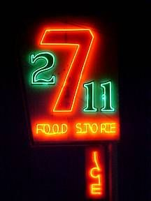 7to11 Food Store - neon sign (Route 66, Gallup, NM)