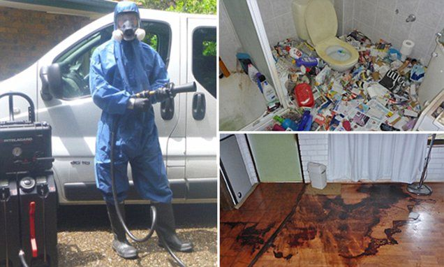 Crime scene cleaner talks of the grisly scenes he encounters