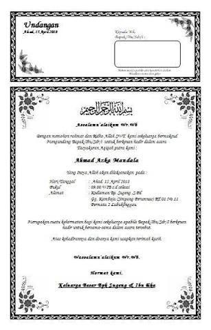Hasil gambar untuk contoh undangan tahlil yang bisa di ...