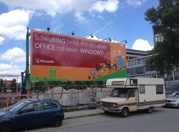 Baustellenschild Microsoft by FAKTOR 3 DESIGN