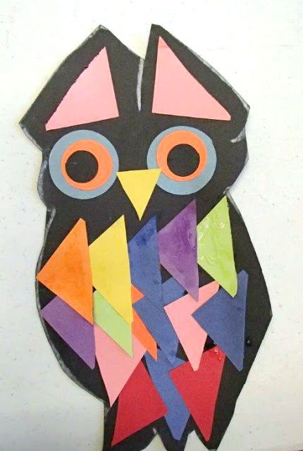 Easy owl craft made from paper and glue. Includes recommendations for owl books.