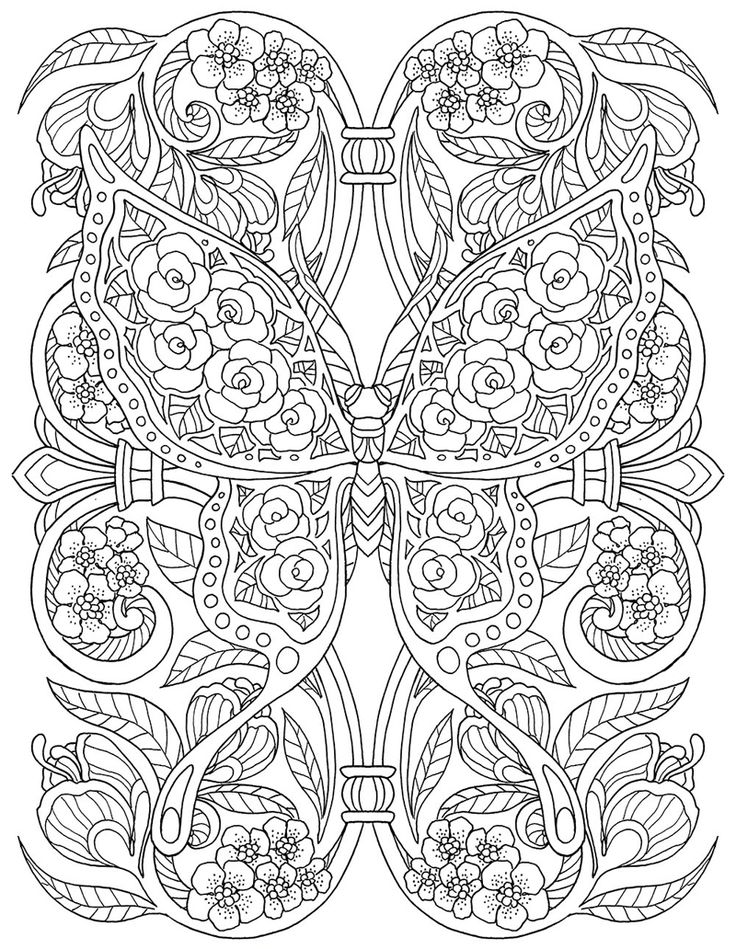 Butterfly Coloring Pages 9
