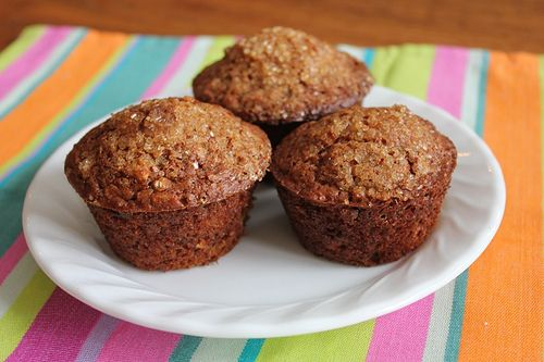 I found this Oatmeal Applesauce Muffin recipe online recently and knew I had to try it. Since I was out of applesauce, I used apple butter. I tweaked a few other things and wasn't sure how it would turn out, but we ended up loving these. I froze some of them and reheated them today and they were still delicious.