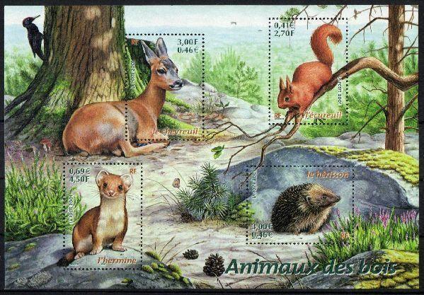 France Woodland Animals www.kniffka-philatelie.com