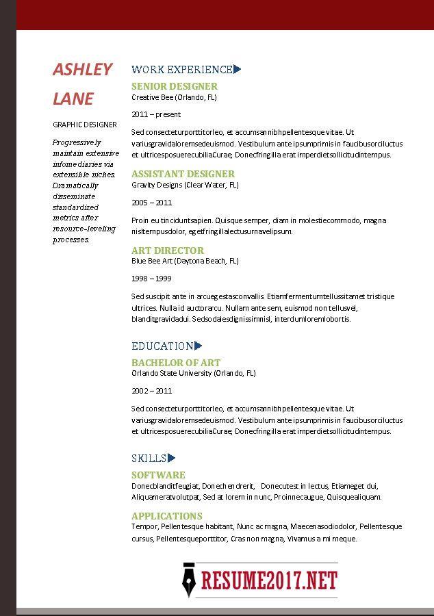 Resume template 2017