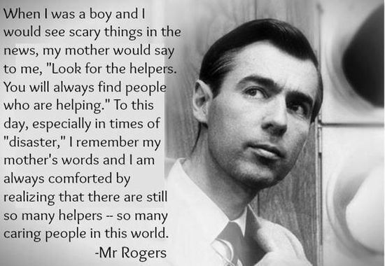 Fred Rogers quote on scary news stories.
