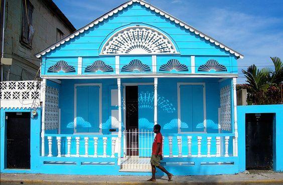 Blue Caribbean House Caribbean Homes Beach Cottages