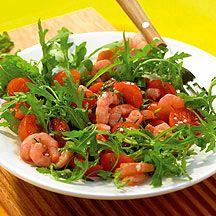 Weight Watchers - Salade van garnalen en rucola met knoflookdressing - 3pt