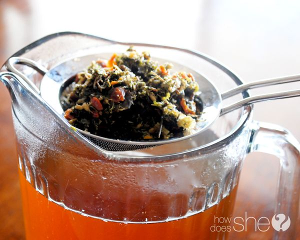Drink this as soon as you start feeling sick and it will soothe you to health again.  howdoesshe.com #herbaltea