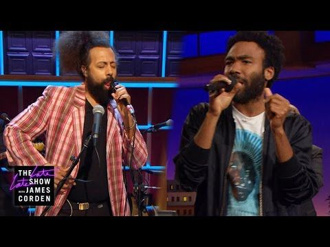"Donald Glover Jams With Reggie Watts & Shreds Seal's ""Kiss From a Rose"" on 'Late Late Show' 