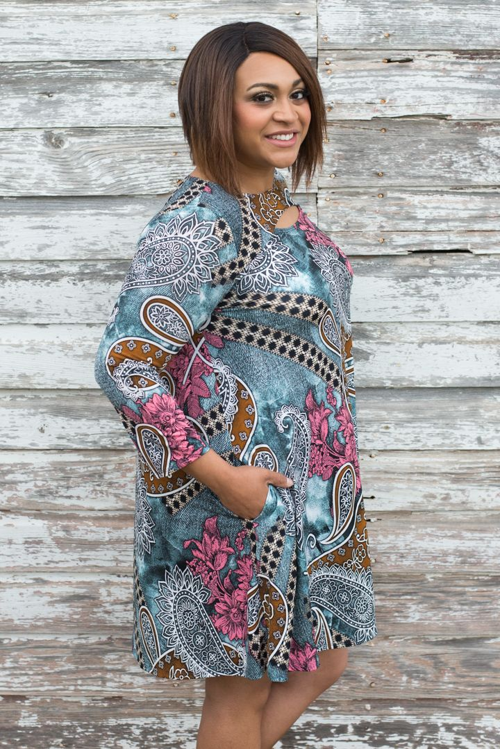 One Faith Boutique - Fool For You Paisley Print Dress With Cut Out ~ Ocean ~ Sizes 12-18, $37.00 (https://www.onefaithboutique.com/new-arrivals/fool-for-you-paisley-print-dress-with-cut-out-ocean-sizes-12-18/)