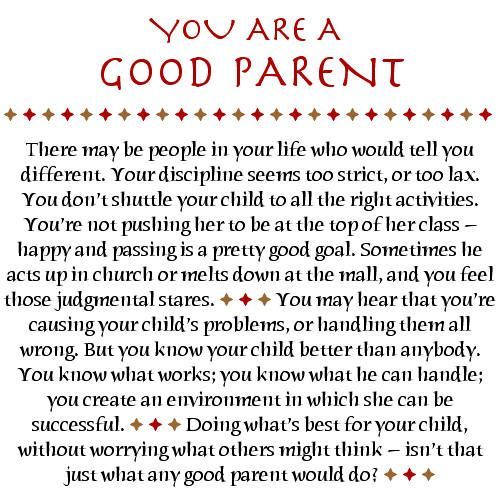 Special parents quote poem