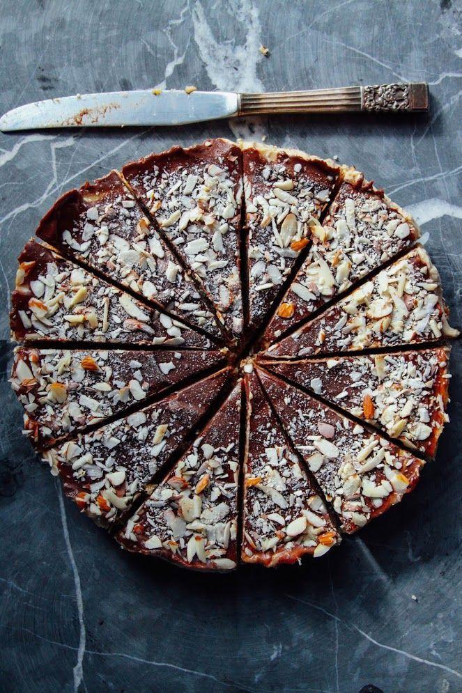 Caramel chocolate ganache tart