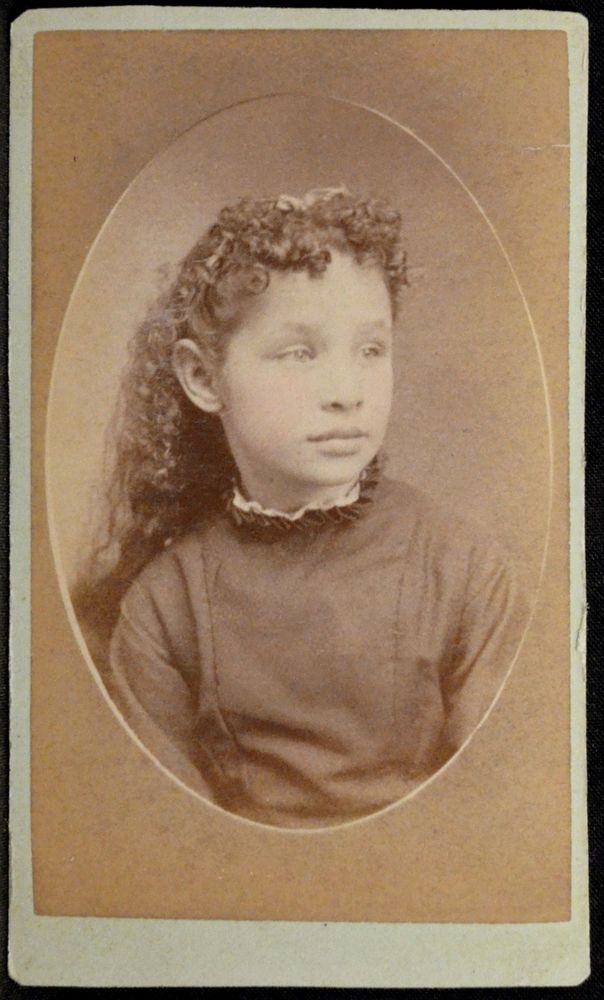 CDV Photo Girl Very Thick Curly Long Hair by Wisner Lindsay Robinson Illinois