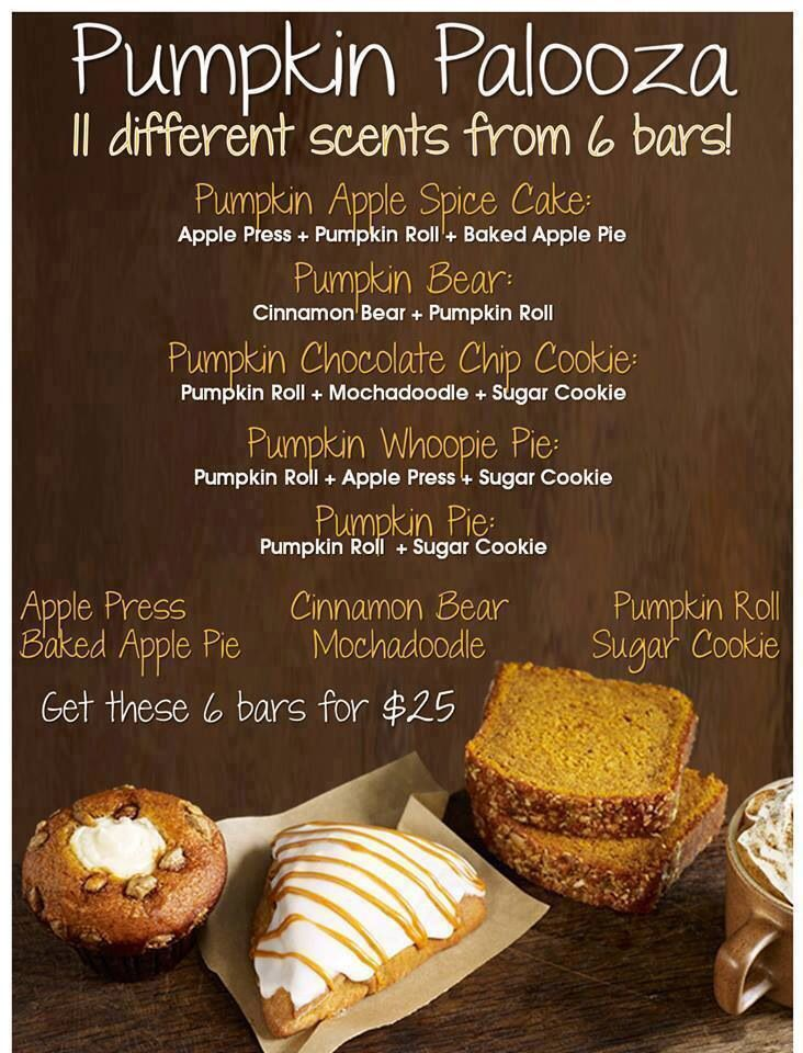 Pumpkin Palooza .. Scentsy Bar Recipes.. Create your perfect scents ..Fall/Winter 2014  .. Sept-Feb #pumpkineverything   https://resasilva.scentsy.us/
