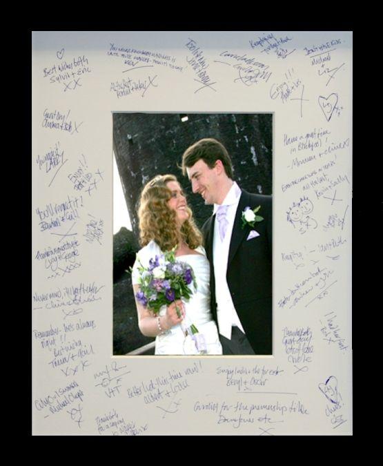 Wedding Signature Photo Mount And Frame Idea