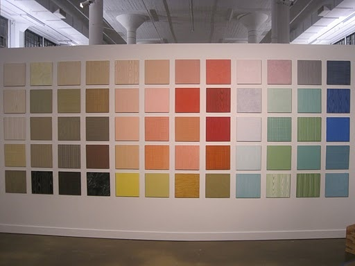 martha stewart paint colors - use this idea for most popular samples to be displayed on long wall