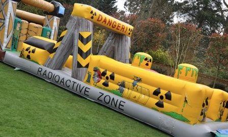 Inflatable Radioactive Zone Giant Inflatable Bouncy Castle