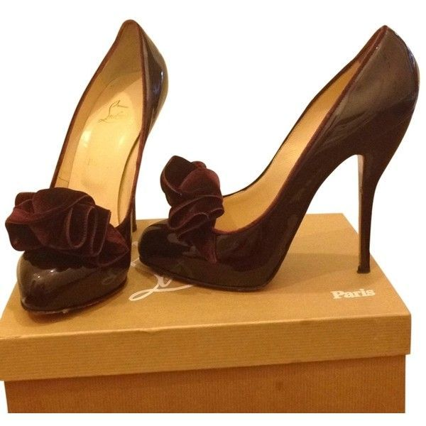 sale retailer 3e05a d6c2c Pre-owned Christian Louboutin Burgundy Pumps ($331) ❤ liked ...