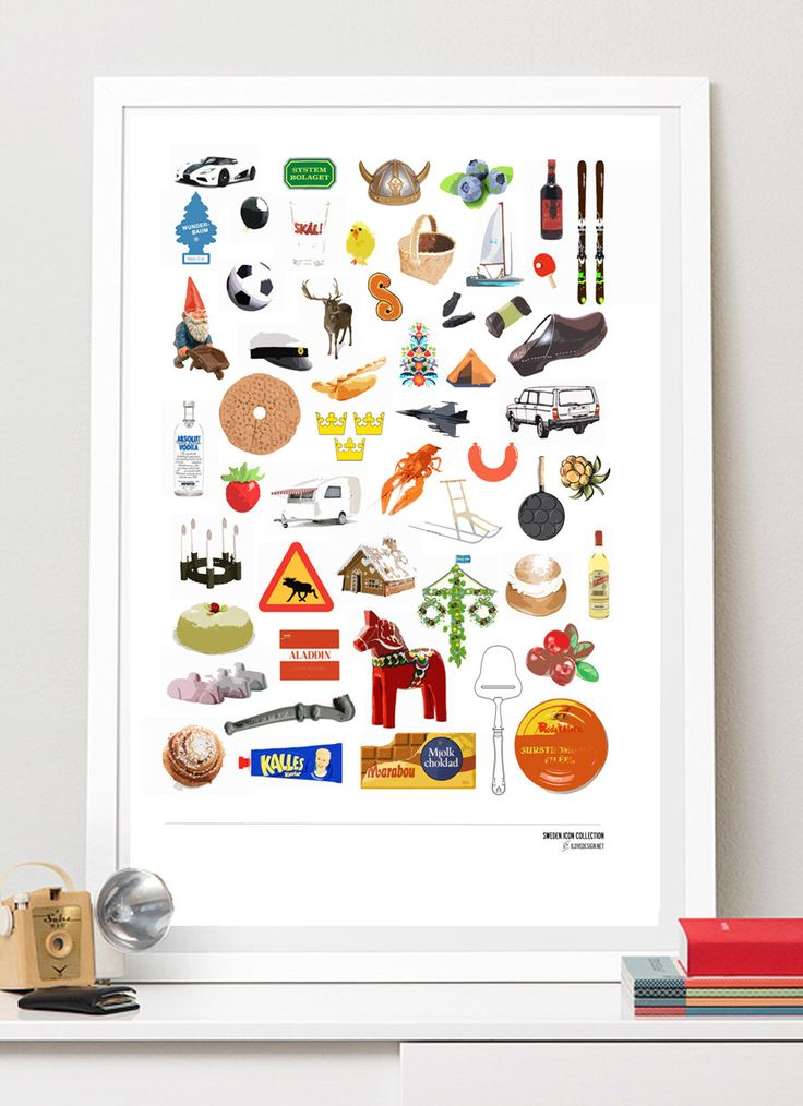 SWEDISH ICON COLLECTION - Best of Sweden. A3 luxury poster print. by ilovedesignlondon on Etsy https://www.etsy.com/listing/162522132/swedish-icon-collection-best-of-sweden
