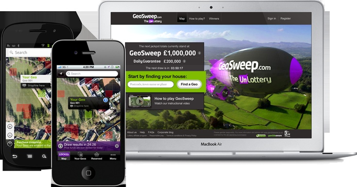 GeoSweep. Google maps gambling game for web, IOS & Android