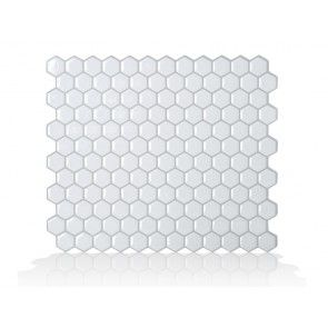 Hexago - Peel and stick sheets of specialty resilient gel tiles designed for kitchen and bath use.