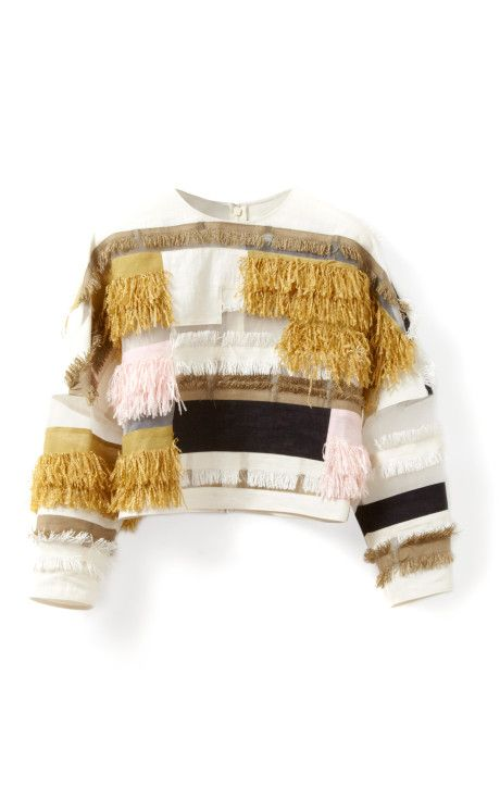 Raffia Patchwork Dolman Top by 3.1 Phillip Lim for Preorder on Moda Operandi
