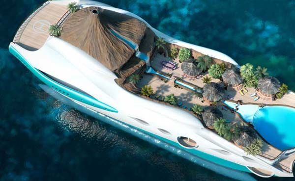 Marvelous Tropical Island Yacht for New Level of Luxury : Tropical Island Yacht 1