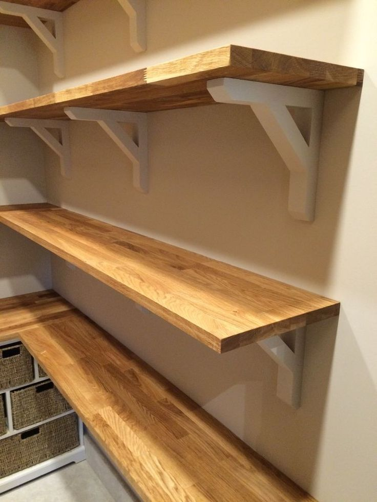 about wooden shelf brackets on pinterest shelves office shelving