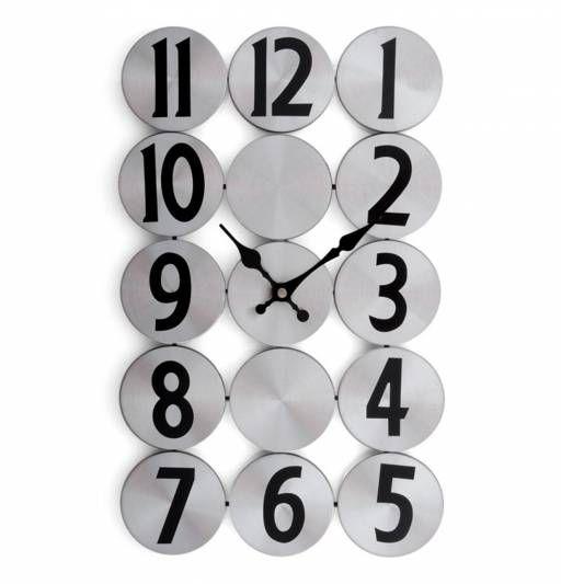 te encantar este moderno reloj de pared plateado un original accesorio