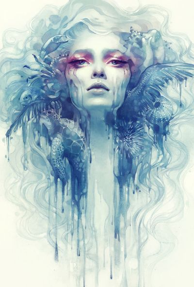 Oil Art Print- Anna dittmann... - fragments of beauty incorporated, with a human face, to create a fulfilling happy, beautiful person