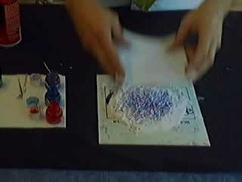 How To Marble Fabric on Shaving Cream with Mr Marbled Fabric - YouTube