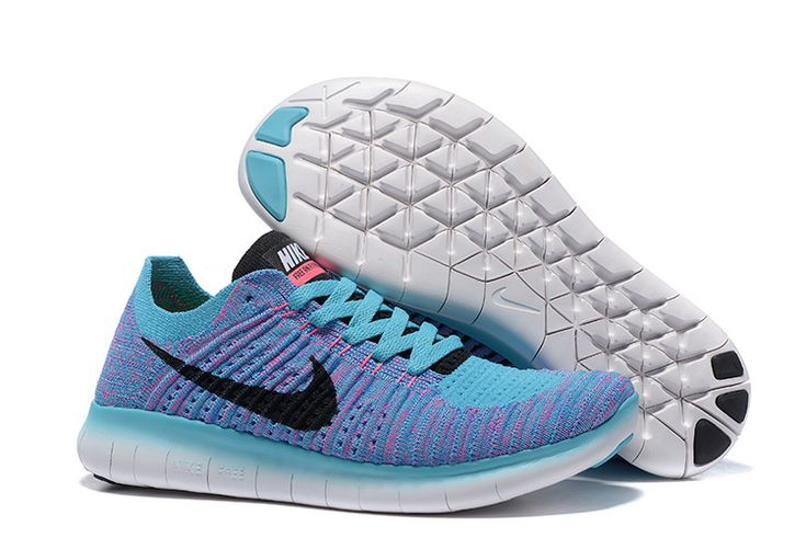 NIKE FREE FLYKNIT 5.0     Light Bule/Black Purple Size: 40--44