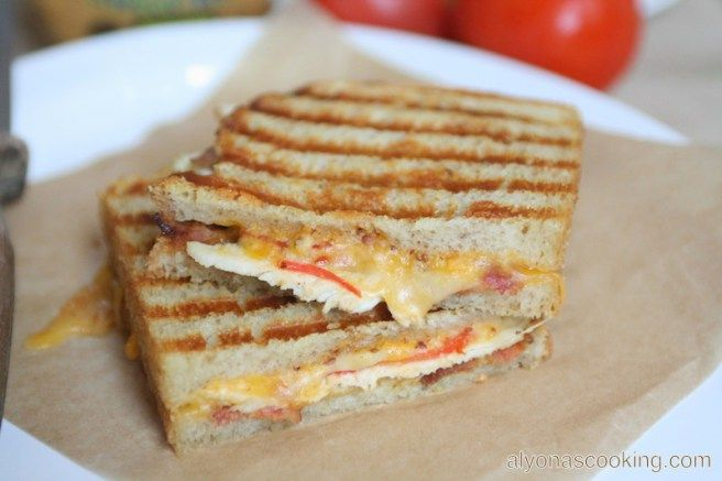 Chipotle Chicken Panini Sandwich {Panera Bread Copycat}