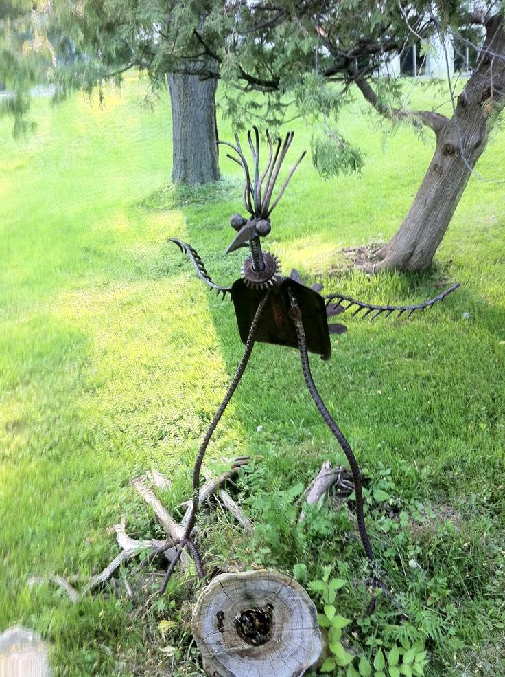 98 best yard art 2 images on pinterest metal garden art - Sculpture metal jardin ...